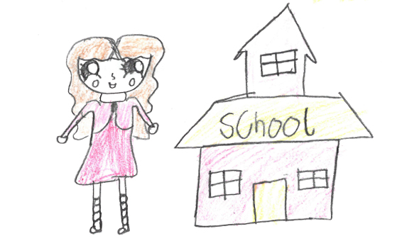 Child and school drawing